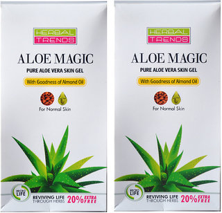 Dry Skin Health- Pure aloe vera gel with almond ( Skin Gel-2 nos)
