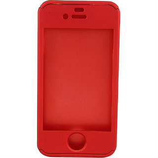 hot sale online 98f20 c2285 Mehta Trading Co. 360 Degree Full Body Protection Front Back Case Cover  with Tempered Glass For Iphone 4S - Red