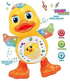 Dancing Duck Toy with Real Dancing Action & Music Flashing Lights Multi Color