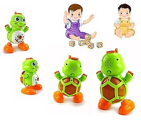 Funny New Turtle Dance Moving Baby Early Educational Toys with Light Music Electric Toys for 0-36months Baby