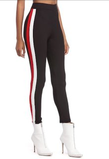 Black Ride or Side Stripes Stretchable Trendy  Legging / Jegging / Gym Wear / Yoga Wear /Sport's Wear