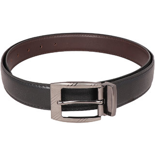 Osaiz Boys and Men Black and Brown Synthetic Leather Belt