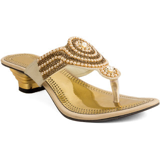 TE Fashion Golden PartyWEAR Heel's