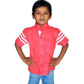 Floras Self Design Cotton Shirts For Boys