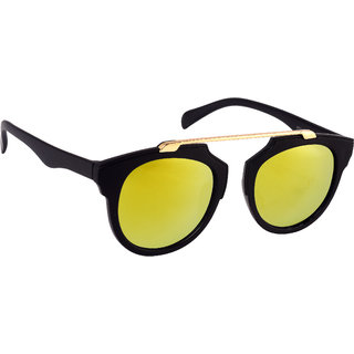 77acd476869 Buy HH Yellow Mirrored UV Protection Unisex Wayfarer Sunglasses Online -  Get 89% Off