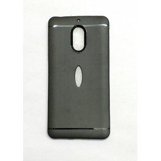 Shop4U NOKIA 6 Black Ultra Protection Rubbrished Soft Back Cover