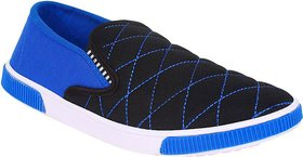 Weldone Blue Slip on Canvas Air Mix Sneakers/Casual Shoes For Men