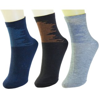 Neska Moda Men Cotton Multicolor 3 Pair Ankle Length Socks