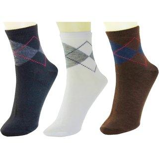 Neska Moda Men Cotton Multicolor 3 Pair Ankle Length Socks