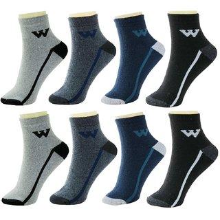 Neska Moda Men 8 Pairs Terry Cotton Ankle Length Socks Multicolor