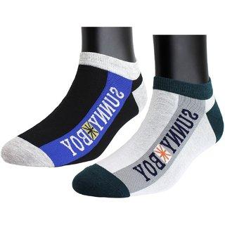 Neska Moda Premium Men 2 Pairs Cotton Low Cut Ankle Length Socks S871