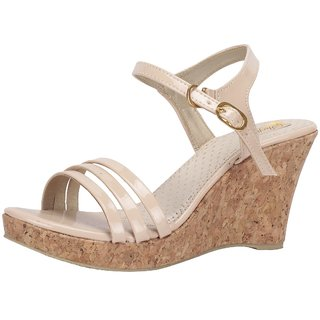 SHOFIEE Women Cream Coloured cork Trendy Wedges/party wear/casual /wedding/fashionable stylish sandal