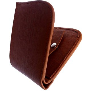 Bi-Fold Stylish Italian Brown Leatherette Wallet - Stylecode33 (Synthetic leather/Rexine)