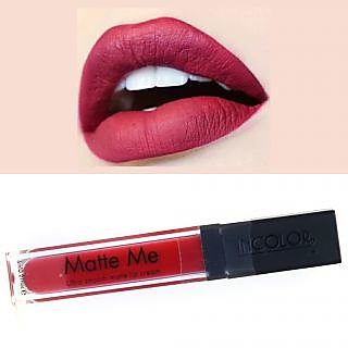 Matte Me Liquid Creme Lipstick-424.Free 1 Incolour Lip Pencil