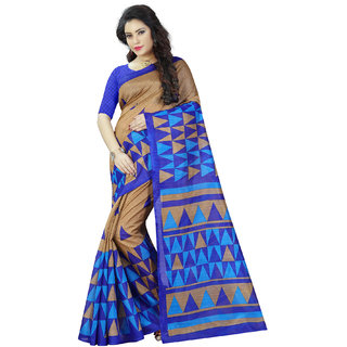 Ajira Multi Colour Bhagalpuri Cotton Printed Saree
