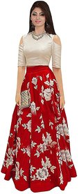 Women Wed Red Color Women's Designing Party Wear lehenga CholiFree Size -Semi Stitched .