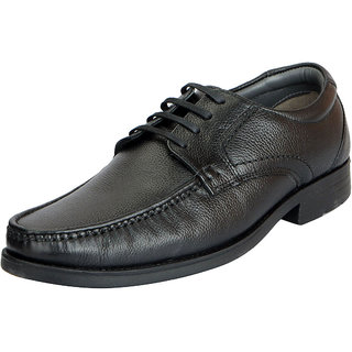 Hush Puppies Mens Premium Leather Black Formal Lace Up Shoes