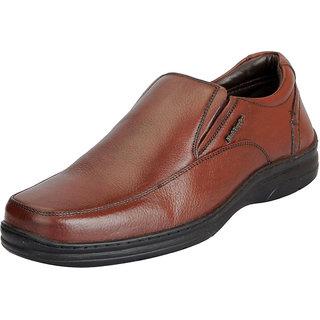 Hush Puppies Mens Premium Leather Tan Formal Slip On Shoes