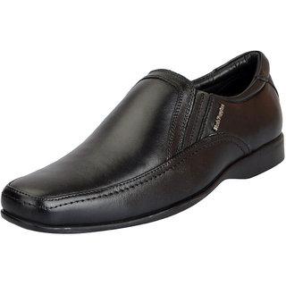 Hush Puppies Mens Premium Leather Black Formal Slip On Shoes