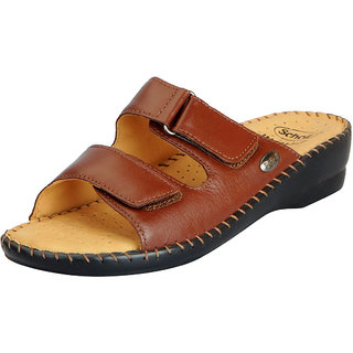 46be0a359 Dr.Scholls Women s Tan Leather Outdoor Buckle Sandals and Floaters