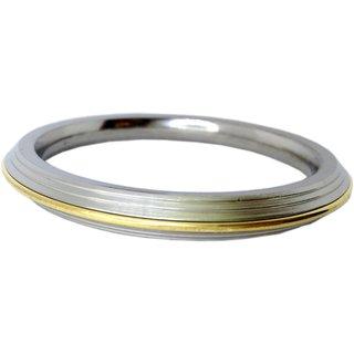 Brass Stainless Steel Punjabi Kada Bracelet For Men (1 Cm Thick, 7.0 CM DIA