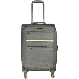 Traworld Jupiter-1003 20 inch 4 Wheel Trolley Bag - Grey