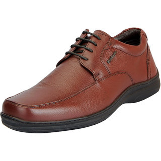 Hush Puppies Mens Premium Leather Tan Formal Lace Up Shoes