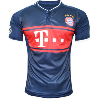 d6faaf935810 Buy IMP Bayern Munich Navy Blue Color Half Sleeve Dry Fit Jersey ...