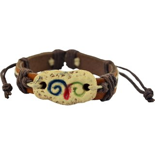 ALPHA MAN Aries Zodiac Sign  Pebble-Stone Bracelet in