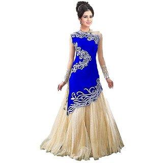 Buy Reeva Trendz Women s Soft Net Semi-stitched Gown (RTGWJBlue ... d421db6d6