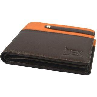 iMex Mens Brown Tan Genuine Leather Wallets