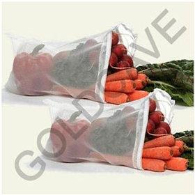 9 Pcs Multipurpose Fridge Storage Zipper Bags for Fruits  Vegetables