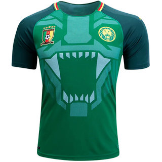 Cameroon National Football Team Green Color Dry Fit Half Sleeve Jersey