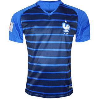 Buy France National Football Team Blue Color Half Sleeve Dry Fit ... 101c9215e