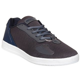 Columbus Mens Gray Navy Running Shoe