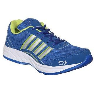 Columbus Mens Blue Green Running Shoe