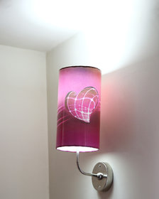 LIGHT ANGLE Handmade Color Paper Sheet Crafted Wall Lamp ((5.5x5.5 x 8 inch, Pink)