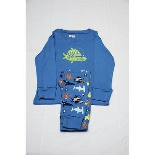 JUMPIN JAMMIES KIDS NIGHTWEAR / SLEEP WEAR / NIGHT SUIT / BOYS / BLUE / SHARK