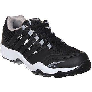Columbus Mens Black Gray Running Shoe