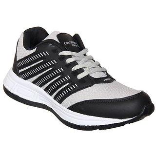 Columbus Mens Black White Running Shoe