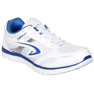 Columbus Mens White Blue Running Shoe