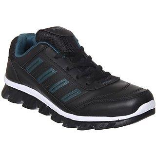 Columbus Mens Black Green Running Shoe