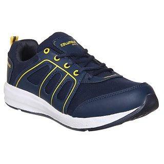 Columbus Mens Blue Yellow Running Shoe