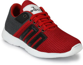 Lavista Men's Red And Black Net Febric  Casual Shoe
