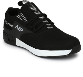 Lavista Black Lace-up Air Mix Sneakers/Casual Shoes For Men