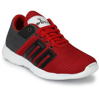 Lavista Men's Red And Black Net Febric  Casual Shoe