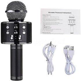 techdeal WS858 Wireless Bluetooth Karaoke ,3-in-1 Portable Hand microphone Speaker for all Smart phone (Black)
