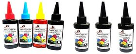 Odyssey Universal Premium Quality for use in HP/ Canon/ Brother/ Samsung Inkjet Printers 100 ML each ,4pcs black and 1 e