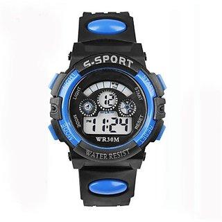 S2S Blue in Black Sport Digital Watch - For Boys Girls 6 month warranty