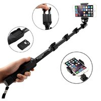 ShutterBugs YT-1288 Bluetooth Enabled Monopod Selfie Stick for Mobile and Camera